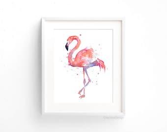 Flamingo Watercolor Pint Flamingo Painting Pink Flamingo Print Flamingo Wall Art Nursery Flamingo Print Nursery Decor Flamingo