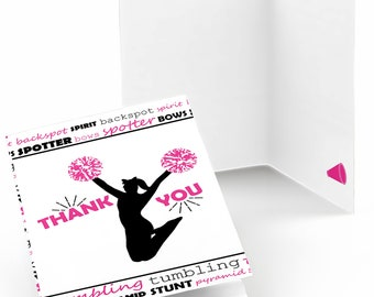 We've Got Spirit - Cheerleading - Thank You Cards - Cheer Party Thank You Cards - Birthday Thank You's - 8 Note Cards