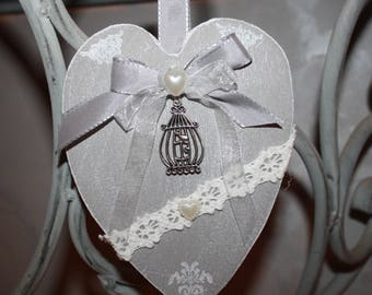 Heart scented and decorated in a spirit charm