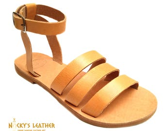 GLADIATOR SANDALS Mid High from 100% Full Grain Leather