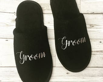 Personalised Slipper - Groom Gift - Groomsmen - Personalized Gifts - Bridal Party - Wedding Party