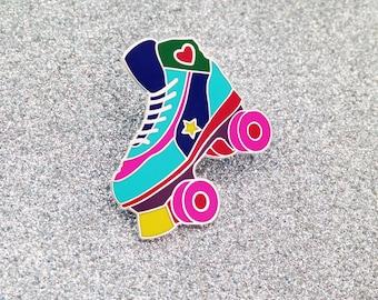 Roller Skate Enamel Lapel Pin Badge - Rollerskating - Roller Derby