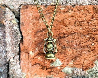 Lantern Necklace // Camping Necklace // Camping Lantern Necklace // Camping Jewelry //