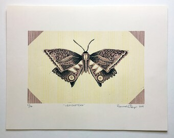 Relief Print : Lepidoptera