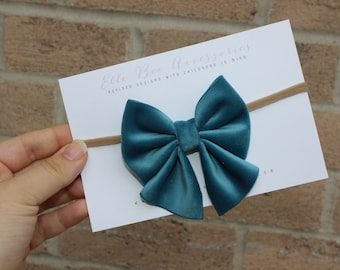 Velvet Hair Bow, Velvet Bow, Baby Bow, Velvet Headband, Velvet Hair Clip, Velvet Sailor Bow, Hair Bows For Girls, Bow Clip, Velvet Hairbow