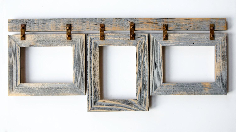 Barnwood Collage Frame 3 5x7 Multi Opening Frame Rustic