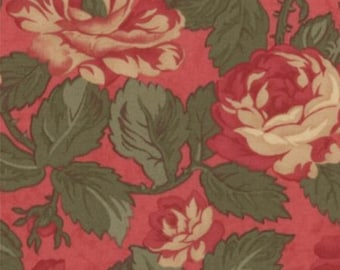 Paris Flea Market - Rouge Red Florals by 3 Sisters from Moda