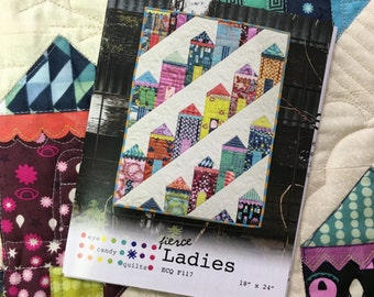 Fierce Ladies Mini Quilt Pattern by Eye Candy Quilts