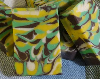 SHIPS FREE! | Thai Coconut Cold Process Handmade Soap | 5 Ounce Bar | Artisan Soap | Moisturizing and Bubbly Soap | Shells Spa Products