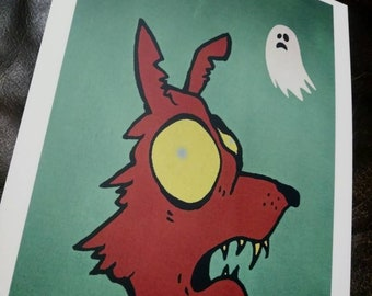 Dog with Ghost Print