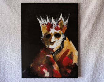 King acrylic and oil painting on canvas