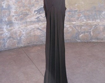 Vintage Original BETSY JOHNSON Full Length Dress Silky Earthy