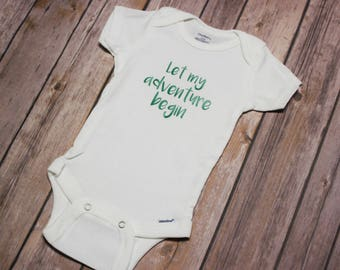 Let My Adventure Begin Baby Outfit