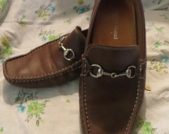 vintage BACCO Bucci  soft brown mens loafers sz 10m