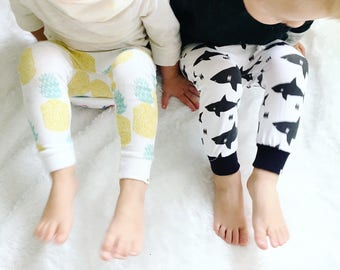 Baby Harem Pants | Grow With Me Pants | Baby Harems | Baby Joggers | Hipster Baby Pants | Toddler Harem Pants |  Baby Shark Pants