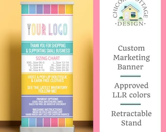 DIGITAL DOWNLOAD - Direct Sales Marketing Banner - Sizing and Wear Instructions