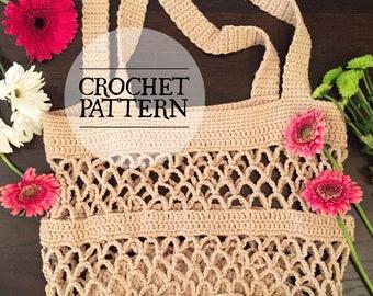 PATTERN: Crochet Market Tote Pattern (2 sizes) by The Granville Stitchery