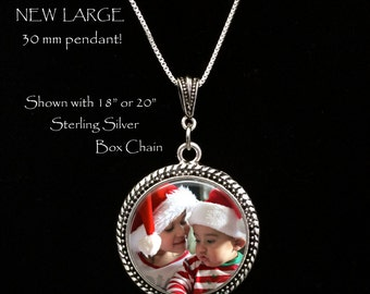 Large Photo Pendant Necklace - Your Own Photo - Photo Jewelry - Photo Necklace - Custom Picture Necklace - Personalized Necklace, gift