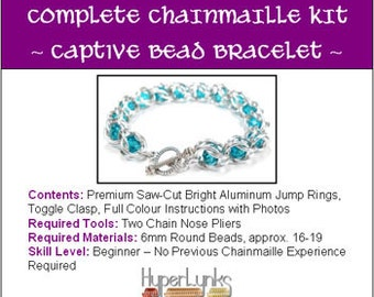 6mm Captive Bead Bracelet HyperLynks Chainmaille Kit