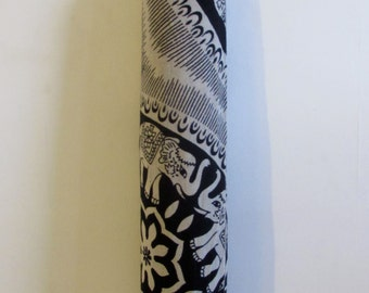 Yoga Mat Bag Pilates Mat Bag handmade Indian Tribal Elephant Bespoke White Black (b50) Free Gift Choice Free UK Delivery