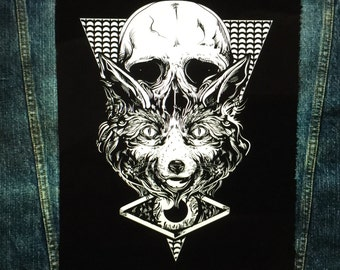 The fox and the skull Back Patch | Patches | Punk Patches