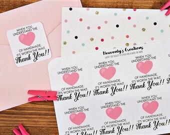 Handmade - Heart of Handmade, Sticker Sheet - small shop supplies - packaging sticker