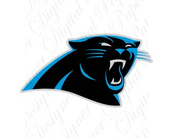 Carolina SVG and Studio 3 Cut File Cutouts Files - Logo Stencil for Silhouette Cricut File Decals SVGS Decal Football Team Panthers Logo