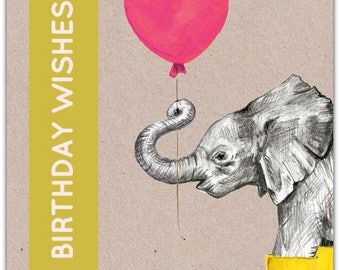 Large Birthday Wishes 25cm x 17cm greeting card