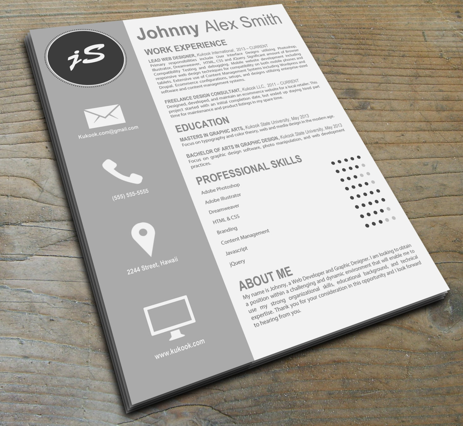 Creative Resume Template Instant Download Showcase your