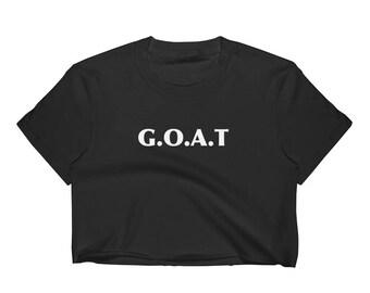 Goat Goat Signs Goat Charm Goat Art Print Goat Lover Design Goat Life Goat Love Gift Women's Crop Top