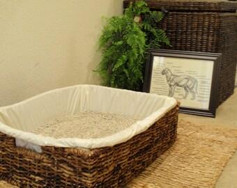 Zen Cat Litter Box Set - Cat Litter Box for the Natural Home - For cats who prefer open litter boxes