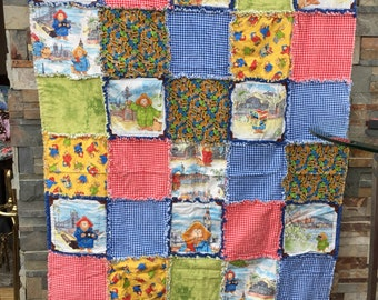 Paddington bear rag quilt