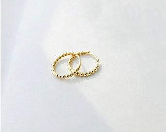solid gold cartilage earrings, tiny gold hoop earrings, solid gold earrings, cartilage and lobe, small gold hoop earrings, gold earrings
