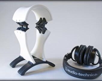 Blanc élégant, robuste et joliment incurvée personnalisé multicolore 3D imprimé casque Stand