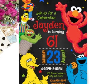 INSTANT DOWNLOAD - Sesame Street Invitation - Sesame Street Birthday Invitation - Sesame Street Invite - Invitation - Birthday Invitation