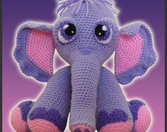 Amigurumi Pattern Crochet Gertie Elephant Doll DIY Instant Digital Download PDF