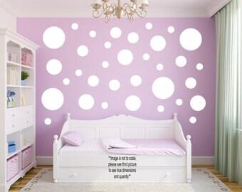Polka Dot Decals - Polka Dot Wall Decals - Polka Dot Stickers - Wall Stickers - Vinyl Wall Sticker - Circle Wall Sticker - Circle Wall Decal
