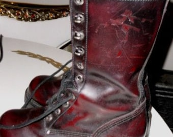 Vintage Leather Boots Cherry - Awesome