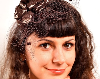 Women's hat tea party, Tea Party Fascinator, Fascinator, Church Hat