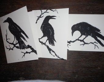 Raven Cards, set of three, variety pack