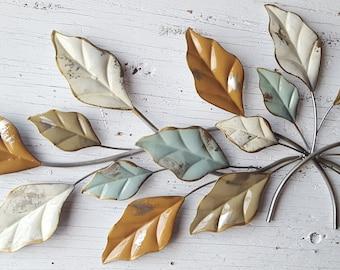 Leaf Wall Art, Gold Wall Art, Gold Home Decor, Leaf Wall Decor, Silver Wall Decor, Silver Wall Art, Metal Wall Decor, Metal Leaf Decor,