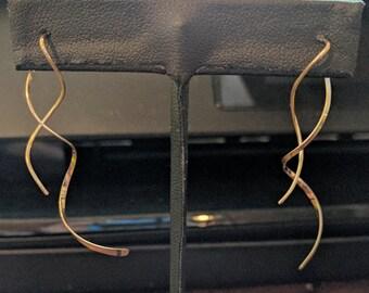 Gold Swirl Earrings