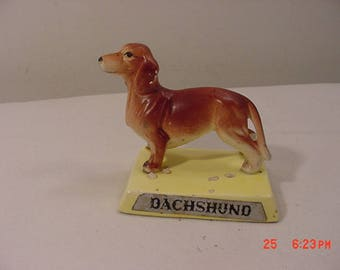 Vintage Dachshund Ceramic Figurine  17 - 1140