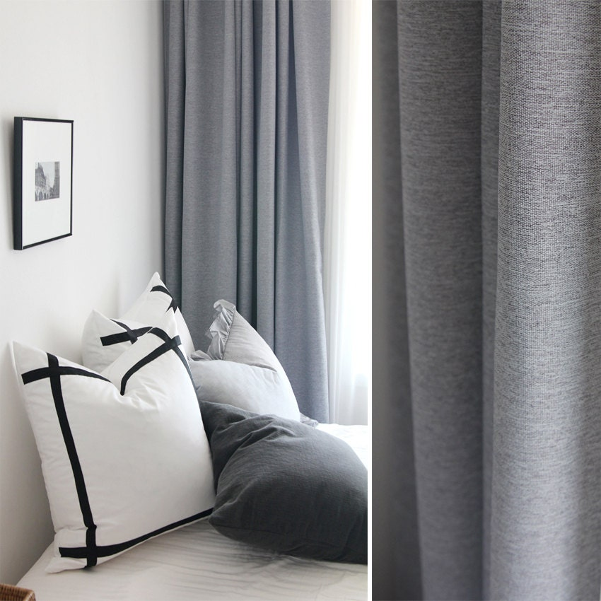 grey curtain light room curtains modern bed gray living best solid