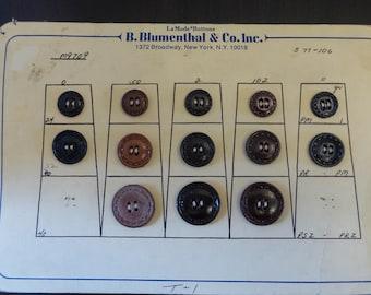 B. Blumenthal & Co Inc Sample Buttons, Button Card