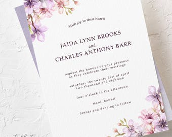 A Cherry Blossom Kind of Day - Wedding Invitations (Style 13750)
