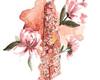 Mulberry Fall 2017 Art Print Fashion Illustration, Fashion Sketch, Fashion Art, Watercolour Illustration