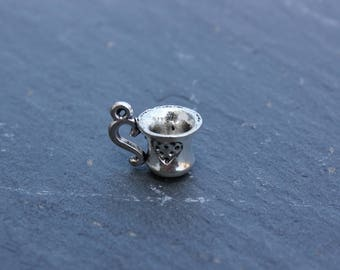 Silver Plated Tea Cup charm