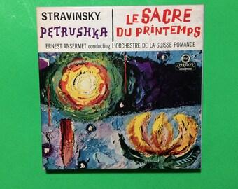 Stravinsky Petrushka The Rite of Spring 2 Sides 4 Track Reel to Reel Tape 7 1/2 IPS Vintage