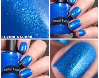 Cosmic Neons -Flying Saucer- Blue Neon Nail Polish, Neon Blue Indie Nail Polish - 5-Free, Cruelty Free and Vegan Indie Nail Polish
